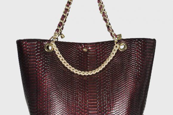 wonderbag borsa artigianale in pelle rossa