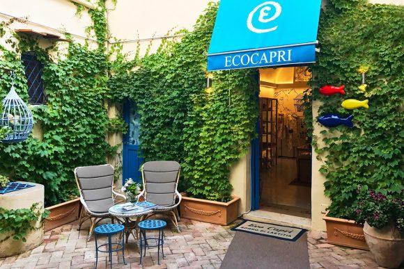 Eco Capri ingresso in piazzetta Cerio