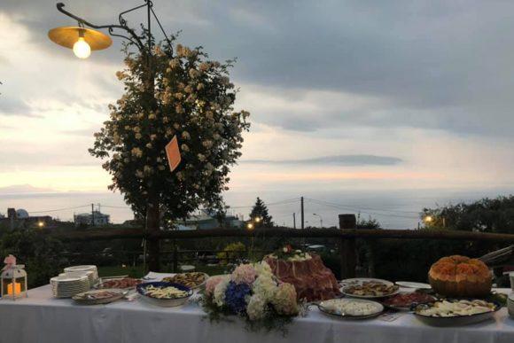 cena con vista sul golfo
