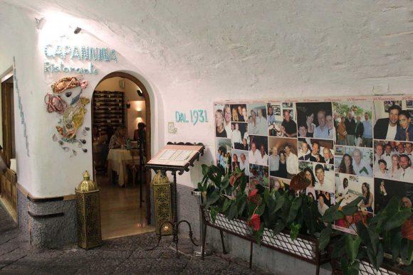 ristorante la capannina a Capri dal 1931